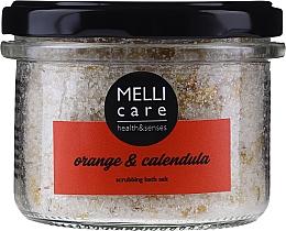 Духи, Парфюмерия, косметика Натуральная отшелушивающая соль для ванны - Melli Care Orange & Calendula Scrubbing Bath Salt