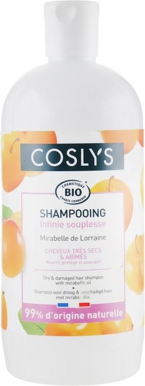 Шампунь для сухих и поврежденных волос с маслом Мирабелла - Coslys Shampoo for dry and damaged hair with oil Mirabella — фото N3