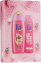 Духи, Парфюмерия, косметика Набор - Fa Pink Passion (sh/gel/250ml + deo/spray/150ml)
