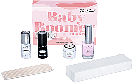 Духи, Парфюмерия, косметика Набор - NeoNail Professional Baby Boomer Set (top/7,2ml + base/7,2ml + gel/5ml + gum/12ml + sponge/25pc + sticks/10pc)