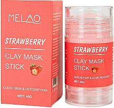 Духи, Парфюмерия, косметика Маска-стик для лица с клубникой - Melao Strawberry Clay Mask Stick