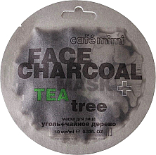 """Духи, Парфюмерия, косметика Маска для лица """"Бамбуковый Уголь и Чайное дерево"""" - Cafe Mimi Charkoal & Tea Tree Face Mask"""
