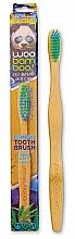Духи, Парфюмерия, косметика Детская зубная щетка, мягкая, зеленая+синяя - Woobamboo Toothbrush Kids Zero Waste