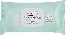 Духи, Парфюмерия, косметика Салфетки для снятия макияжа - Byphasse Make-up Remover Aloe Vera Sensitive Skin Wipes (эко-пак)