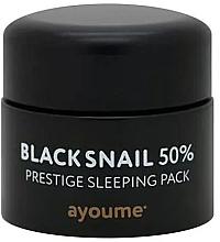 Духи, Парфюмерия, косметика Антивозрастная несмываемая ночная маска для лица с муцином черной улитки - Ayoume Black Snail Prestige Sleeping Pack