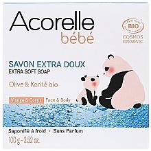Духи, Парфюмерия, косметика Детское мыло с оливковым маслом и маслом ши - Acorelle Baby Soap Extra Soft
