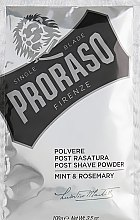 Духи, Парфюмерия, косметика Пудра после бритья с мятой и розмарином - Proraso Mint & Rosemary Post Shave Powder