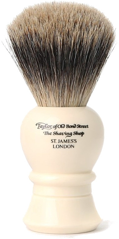 Помазок для бритья, 9.5 см, P1020 - Taylor of Old Bond Street Shaving Brush Pure Badger Size S — фото N1