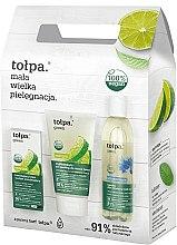 Духи, Парфюмерия, косметика Набор - Tolpa Green (micellar/200 ml + f/gel/150 ml + f/cr/ 50 ml)
