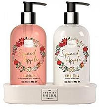 Духи, Парфюмерия, косметика Набор - Scottish Fine Soaps Spiced Apple (liquid soap/300ml + hand/lotion/300ml)