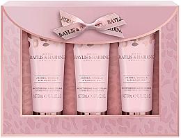Духи, Парфюмерия, косметика Набор - Baylis & Harding Jojoba, Vanilla & Almond Oil Hand Cream Set (h/cr/50mlx3)