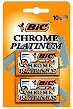 "Духи, Парфюмерия, косметика Набор лезвий для станка ""Chrome Platinum"", 10шт - Bic"