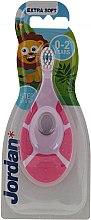 Духи, Парфюмерия, косметика Детская зубная щетка Step By Step, 0-2 года, розовая - Jordan Step By Step Soft