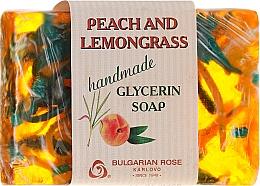 """Глицериновое мыло """"Персик и лемонграсс"""" - Bulgarian Rose Peach & Lemongrass Soap — фото N1"""