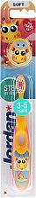 Духи, Парфюмерия, косметика Детская зубная щетка Step 2 (3-5) мягкая, желто-розовая с жирафом - Jordan