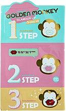Духи, Парфюмерия, косметика Набор средств для ухода за губами - Holika Holika Golden Monkey Glamour Lip 3-Step Kit
