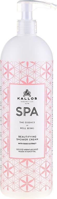 Увлажняющий гель для душа с экстрактом розы - Kallos Cosmetics Spa Beautifying Shower Cream — фото N1