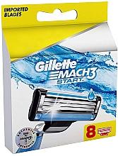 Сменные кассеты для бритья, 8шт - Gillette Mach3 Start — фото N1