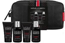 Духи, Парфюмерия, косметика Набор - Baylis & Harding Signature Men's Black Pepper & Ginseng Wash Bag(hair/body/wash/100ml+a/sh/balm/50ml+face/wash/100ml+sh/gel/50ml+bag)