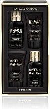 Духи, Парфюмерия, косметика Набор - Baylis & Harding Men's Black Pepper & Ginseng Set (h&b/wash/100ml + ash/balm/50ml + sh/gel/50ml + f/wash/100ml)