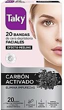 Духи, Парфюмерия, косметика Восковые полоски для депиляции лица с активированным углем - Taky Activated Carbon Facial Wax Strips