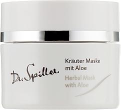 Духи, Парфюмерия, косметика Травяная маска для проблемной кожи с Алоэ Вера - Dr. Spiller Intense Herbal Mask With Aloe