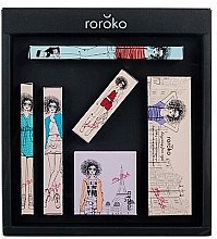 Духи, Парфюмерия, косметика Набор - Roroko Color Muse Make-up Box (eyebrow/pencil/0.4g + eyeshadow/8g + eyeliner/0.8g + blush/6g + mascara/8g + lipstick/3.5g)