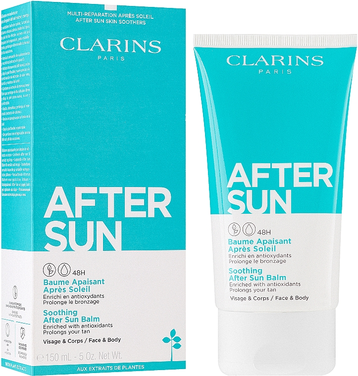 Успокаивающий бальзам после загара для лица и тела - Clarins Soothing After Sun Balm 48H — фото N2