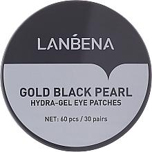Духи, Парфюмерия, косметика Гидрогелевые патчи для глаз с золотом и черным жемчугом - Lanbena Gold Black Pearl Hydra-Gel Eye Patch