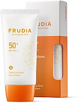 Духи, Парфюмерия, косметика Солнцезащитный крем-основа для лица - Frudia Tone Up Base Sun Cream SPF50