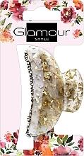 Духи, Парфюмерия, косметика Заколка для волос, 417624, золото-молочная с камешками - Glamour