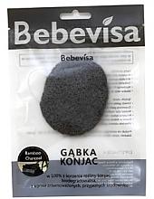 """Духи, Парфюмерия, косметика Спонж для умывания, овальный """"Бамбуковый уголь"""" - Bebevisa Konjac Sponge"""