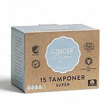"""Тампоны без аппликатора """"Супер"""", 15 шт - Ginger Organic — фото N2"""