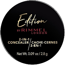Духи, Парфюмерия, косметика Консилер для лица - Rimmel Edition 2-IN-1 Concealer