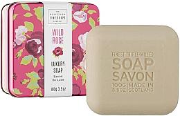 """Питательное мыло для тела в металлической коробке """"Дикая роза"""" - Scottish Fine Wild Rose Soap In A Tin — фото N2"""