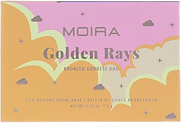 Духи, Парфюмерия, косметика Бронзер для лица - Moira Golden Rays Bronzed Goddess Duo