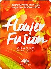 Духи, Парфюмерия, косметика Придающая сияние тканевая маска для лица с апельсином - Origins Flower Fusion Radiance Boosting Sheet Mask