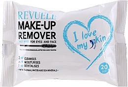 Духи, Парфюмерия, косметика Влажные салфетки для снятия макияжа с термальной водой - Revuele Make-Up Remover I Love My Skin Wet Wipes
