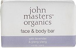 Духи, Парфюмерия, косметика Мыло для лица и тела - John Masters Organics Lavender Rose Geranium & Ylang Ylang Face & Body Bar