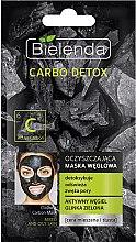 Духи, Парфюмерия, косметика Угольная очищающая маска для комбинированной кожи - Bielenda Carbo Detox Cleansing Mask Mixed and Oily Skin