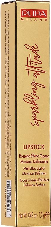 Матовая помада для губ - Pupa Sparkling Attitude Lipstick Matt Effect — фото N1