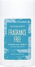 Духи, Парфюмерия, косметика Натуральный дезодорант - Schmidt's Deodorant Sensitive Skin Fragrance Free Stick