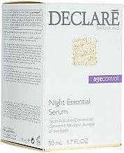Духи, Парфюмерия, косметика Ночная восстанавливающая сыворотка для лица - Declare Age Control Night Repair Essential Serum