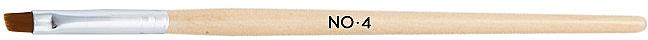 Кисть для нанесения геля скошенная, 4 - NeoNail Professional — фото N1