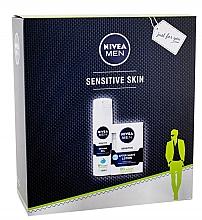 Духи, Парфюмерия, косметика Набор - Nivea Men Sensitive (gel/200ml + balm/100ml)