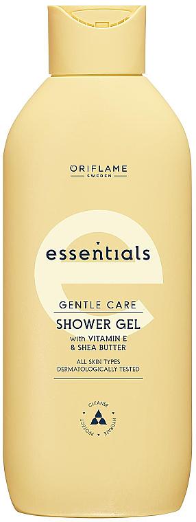 Гель для душа с витамином Е и маслом ши - Oriflame Essentials Gentle Care — фото N1