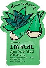 Духи, Парфюмерия, косметика Листовая маска для лица - Tony Moly I'm Real Aloe Mask Sheet