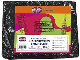 Духи, Парфюмерия, косметика Парикмахерская накидка длинная, чёрная - Ronney Professional Hairdressing Long Cape