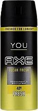 Духи, Парфюмерия, косметика Дезодорант-спрей - Axe You Clean Fresh Deodorant Spray
