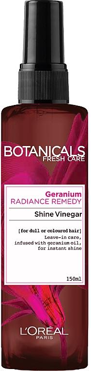 Спрей для волос - L'Oréal Paris Botanicals Fresh Care Geranium Shine Vinegar — фото N1